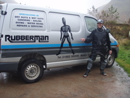 The Rubberman complete with van