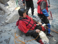 drysuit and throwbag exercise